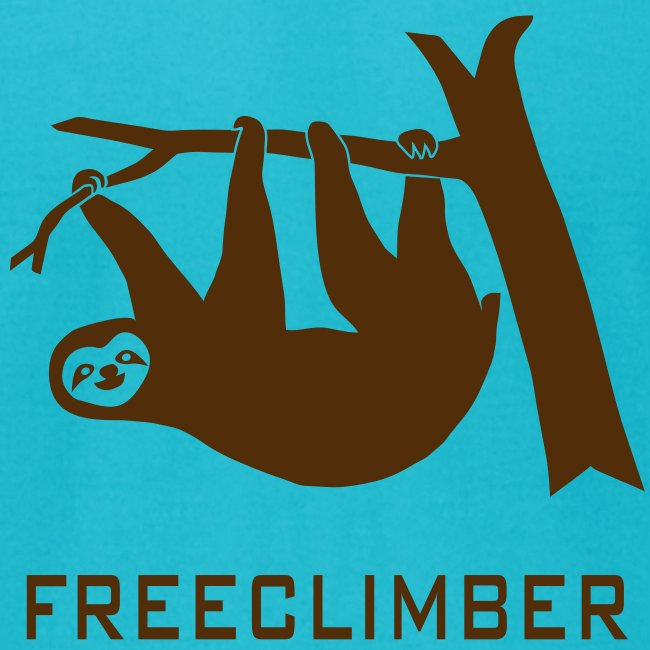 shirt sloth freeclimber climbing freeclimbing boulder rock mountain mountains hiking rocks climber