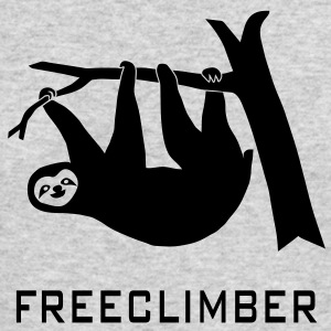sloth freeclimber climbing freeclimbing boulder rock mountain mountains hiking rocks climber Long Sleeve Shirts - Men's Long Sleeve T-Shirt by Next Level