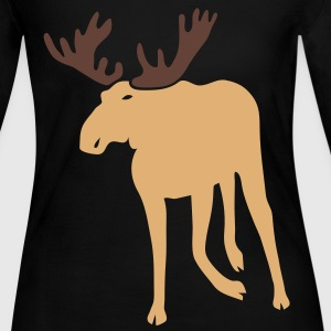 stag deer moose elk antler antlers horn horns cervine bachelor party night hunter hunting Long Sleeve Shirts - Women's Long Sleeve Jersey T-Shirt
