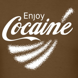 Enjoy Cocaine v2 T-Shirts - Men's T-Shirt