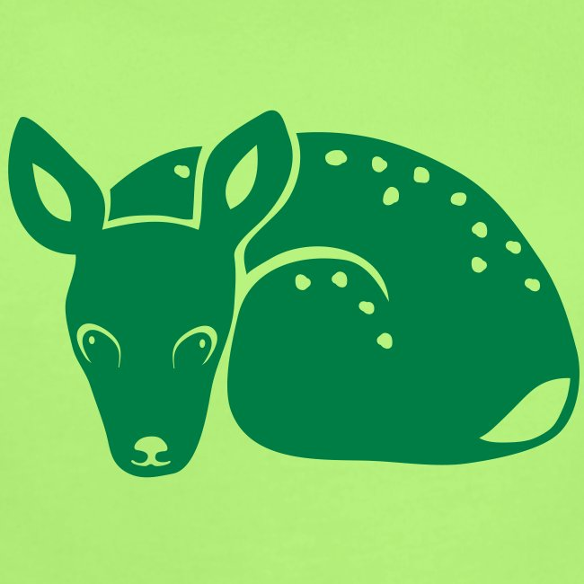 t-shirt fawn kid deer timid cute bambi animal baby