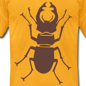stag beetle deer moose elk antler antlers insect stag night bachelor party T-Shirts - Men's T-Shirt by American Apparel