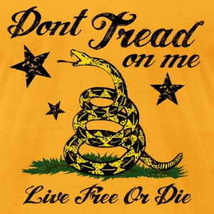 DTOM LIve Free or Die T-Shirts - Men's T-Shirt by American Apparel