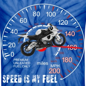 Speed is my Fuel Motor Cycle  T-Shirts - Unisex Tie Dye T-Shirt