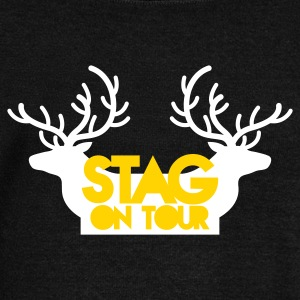 BACHELOR stag on tour with reindeer stags Long Sleeve Shirts - Women's Wideneck Sweatshirt