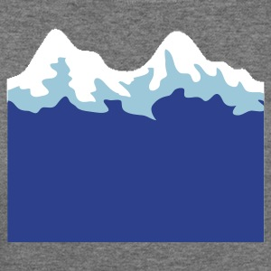simple mountain range Long Sleeve Shirts - Women's Wideneck Sweatshirt