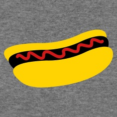 hot dog with ketchup tomato sauce Long Sleeve Shirts
