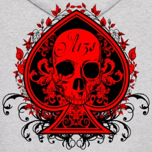 Aces Skull Red ( HD Pixel Design ) - Men's Hoodie