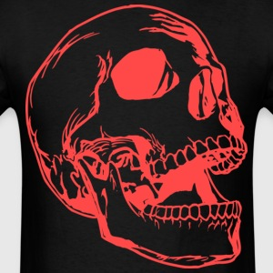Big Skull Red ( HD Pixel Design ) - Men's T-Shirt