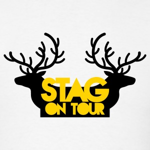 BACHELOR stag on tour with reindeer stags T-Shirts - Men's T-Shirt