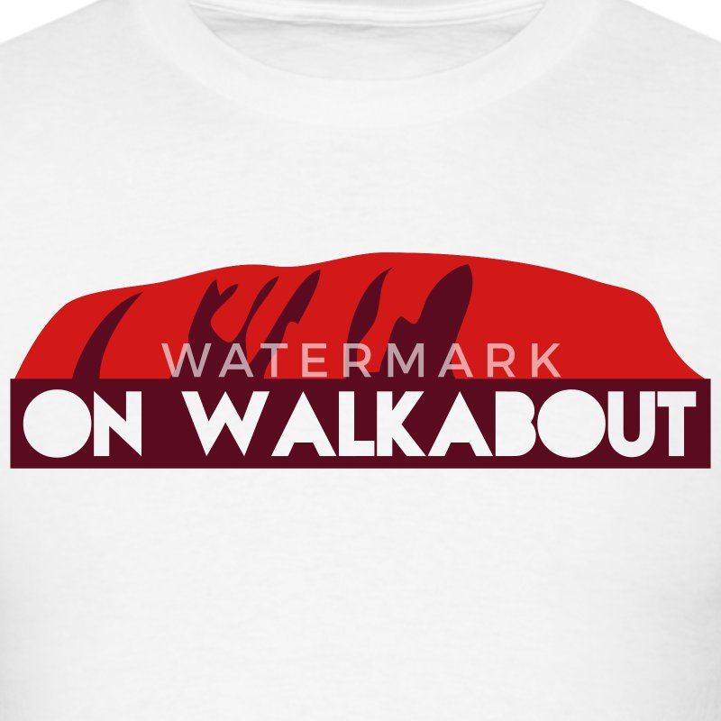 on walkabout -  trek the rock T-Shirts - Men's T-Shirt