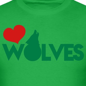 love wolves with type howling wolf T-Shirts - Men's T-Shirt