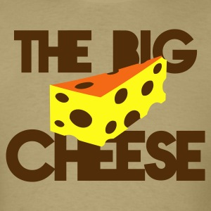 the big cheese swiss cheese good for the office boss! T-Shirts - Men's T-Shirt