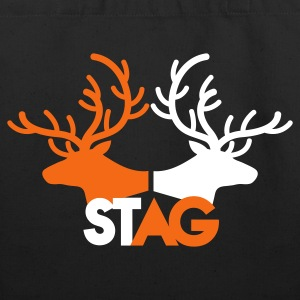 STAG double stag two reindeer  Bags  - Eco-Friendly Cotton Tote