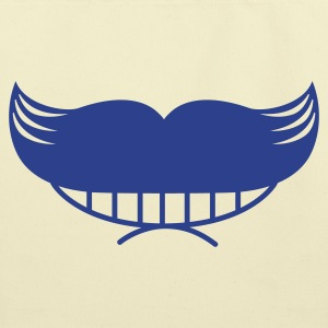 funny moustache with smile Bags  - Eco-Friendly Cotton Tote