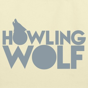 HOWLING WOLF wolves howling at the moon silver Bags  - Eco-Friendly Cotton Tote