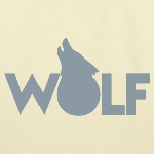 moon WOLF wolves howling design Bags  - Eco-Friendly Cotton Tote