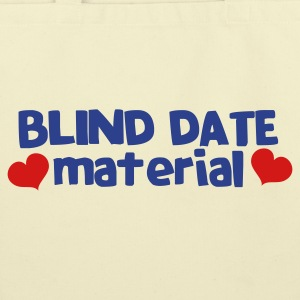 blind date material with hearts Bags  - Eco-Friendly Cotton Tote