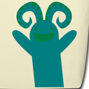 reaching happy green monster Bags  - Eco-Friendly Cotton Tote