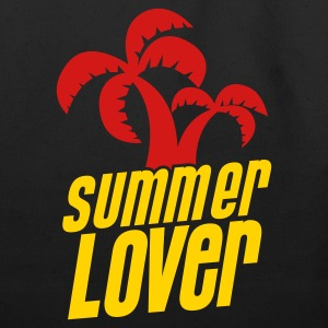 summer lover with palm tree Bags  - Eco-Friendly Cotton Tote