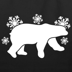 polar bear winter with snowflakes Bags  - Eco-Friendly Cotton Tote