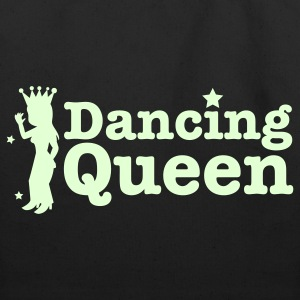 Dancing Queen with dancing girl and crown Bags  - Eco-Friendly Cotton Tote