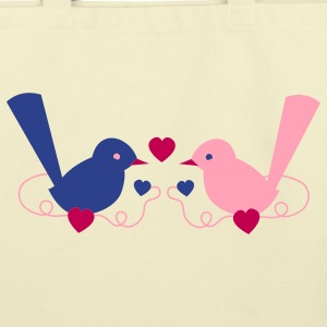love birds cute vintage on a vine Bags  - Eco-Friendly Cotton Tote