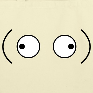 crazy googly eyes looking outwards Bags  - Eco-Friendly Cotton Tote