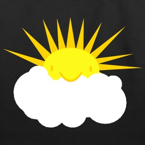 sun peeking out from behind a cloud Bags  - Eco-Friendly Cotton Tote