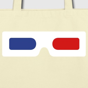3d glasses old skool Bags  - Eco-Friendly Cotton Tote