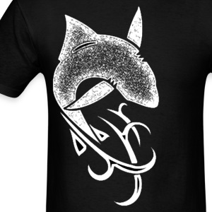 tribal shark v5 white - Men's T-Shirt