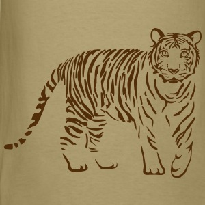 tiger cat cheetah lion wild predator hunter hunting T-Shirts - Men's T-Shirt