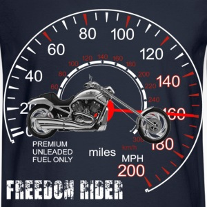 Freedom Rider MotorCycle Chopper 2 White Long Sleeve Shirts - Men's Long Sleeve T-Shirt