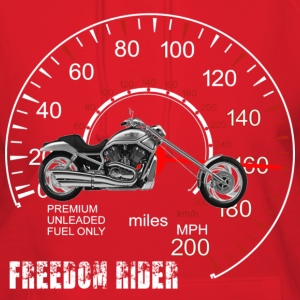 Freedom Rider MotorCycle Chopper 2 White Hoodies - Women's Hoodie