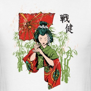 The Geisha ( HD Pixel Design ) - Men's T-Shirt