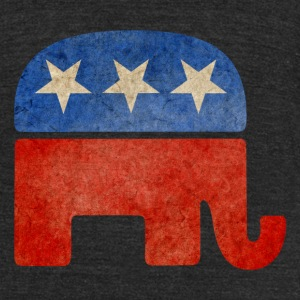 Grunge Republican Elephant T-Shirts - Unisex Tri-Blend T-Shirt by American Apparel