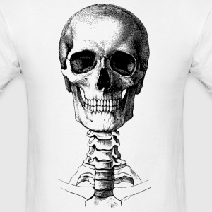 Skull & Spine ( HD Pixel Design ) - Men's T-Shirt