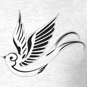 Sparrow ( HD Pixel Design ) - Men's T-Shirt