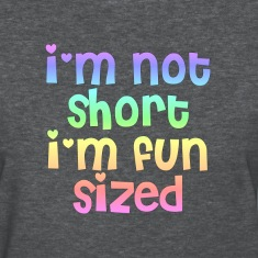 I'm not short I'm fun sized heather tee shirt
