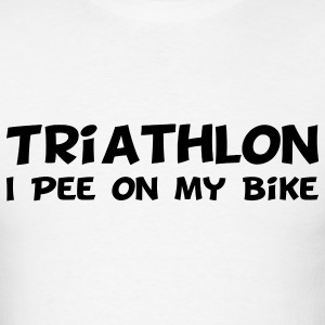 Triathlon I Pee On My Bike T-Shirts - Men's T-Shirt