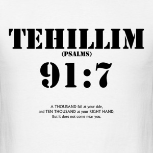 PSALMS/TELHILLIM 91:7 - Men's T-Shirt