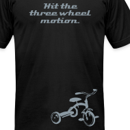 Design ~ Hit the three wheel motion.  (metallic silver print)