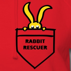 rabbit rescuer bunny rabbit hare cony leveret, bimbo help saver preserver pocket retiever savior save eyes Hoodies
