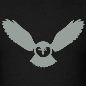 animal t-shirt owl owlet fowl bird night hunter game prey wings feather - Men's T-Shirt