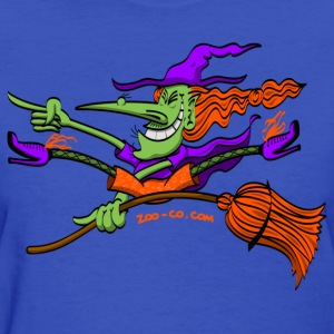 Crazy Witch Riding her Broomstick Women's T-Shirts - Women's T-Shirt