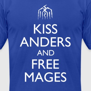Kiss Anders and Free Mages Design T-Shirts - Men's T-Shirt by American Apparel