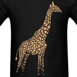 giraffe afrika serengeti camelopard safari zoo animal wildlife desert T-Shirts - Men's T-Shirt