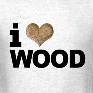 i love or heart wood design men standard tee - Men's T-Shirt