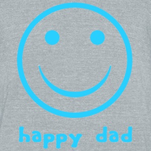 Happy Dad -grey - Unisex Tri-Blend T-Shirt