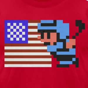 NES Ice Hockey: USA! USA! - Men's T-Shirt by American Apparel